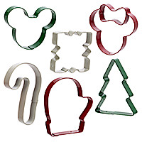 Mickey and Minnie Mouse Holiday Cookie Cutters Set