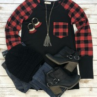 Favorite In the Fall Red Long Sleeve Top