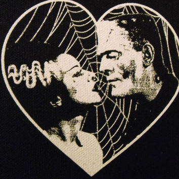 FRANKENSTEIN and BRIDE patch goth horror punk Free Shipping