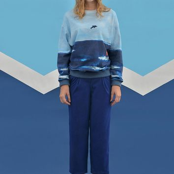 Sea Cotton Pullover Sweatshirt