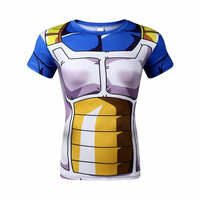 2016 Men 3D Dragon Ball Z T Shirt Vegeta Goku Piccolo Super Saiyan Tee Shirt Sport Fitness Gym t-shirt Anime Character Costume