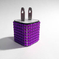 Total Bling Purple iPhone USB Charger