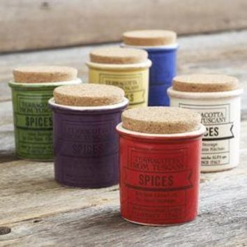 Italian Ceramic Spice Jars - Salt & Spice Containers - Decor & Accessories - Tabletop & Serving - Sur La Table