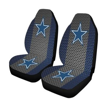Dallas Football Chain Link Car Seat Covers (Set of 2)