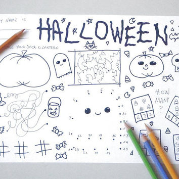 halloween kids activity sheet games halloween party table coloring printable printable sign diy download colouring digital lasoffittadiste