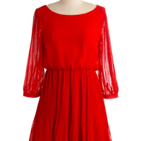 Red at Night Dress | Mod Retro Vintage Dresses | ModCloth.com