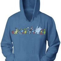 Dr. Seuss Parade Slate Blue Adult Hooded Sweatshirt Hoodie