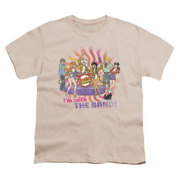 Archie Comics Men's  With The Band T-shirt Cream Rockabilia