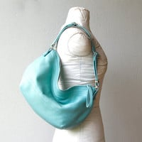 DUFFEL PETITE -  small leather hobo - soft and slouchy - choice of colors and finishes