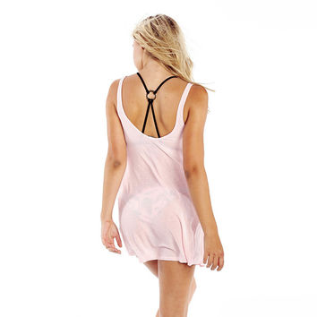 Comfortable Beach Stylish Summer Hot Bralette Alphabet Print Pink Sexy Backless Spaghetti Strap Tops Vest [4920345604]