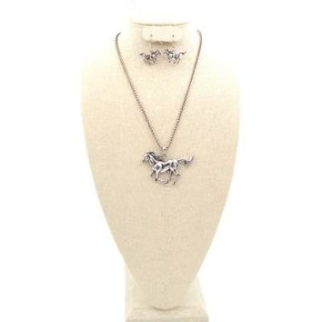 "Rodeo Horse Theme 18"" Necklace Set"