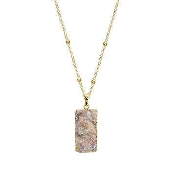 Natural Druzy Stone Necklace