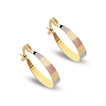 Earring Hoops 18Kts Gold Plated