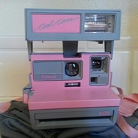 Vintage Polaroid Pink & Gray Cool Cam 600 Instant Camera