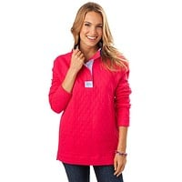 Quilted Skiptide Pullover in Raspberry by Southern Tide