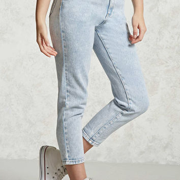 Acid Wash Cropped Jeans