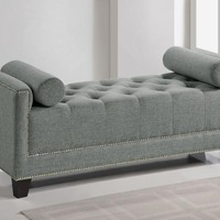 Baxton Studio Hirst  Gray Bedroom Bench Set of 1