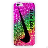 Nike Just Do It  Rainbow Sparkle Glitter For iPhone 6 / 6 Plus Case