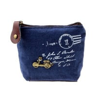 @5 Min Girl Retro Coin Bag Purse Wallet Card Case Handbag Gift Eiffel Tower