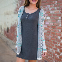 So What's New Mexico Cardigan, Cool Gray