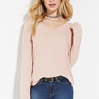 Lace-Paneled Henley