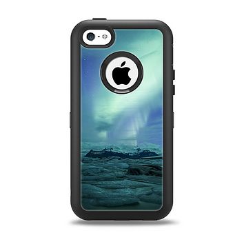 The Glowing Northern Lights Apple iPhone 5c Otterbox Defender Case Skin Set