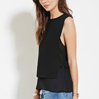 Contemporary Layered Ring-Side Top