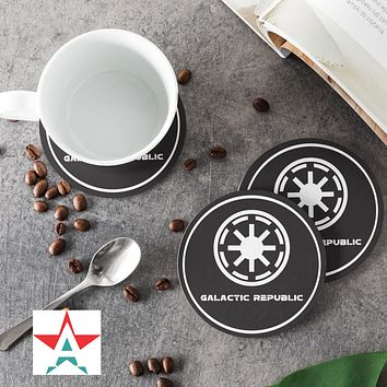 SW-Galactic Republic Round Coasters (Set of 4 coasters)