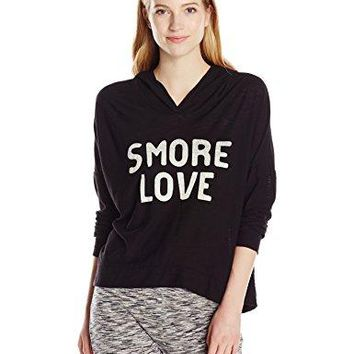 Michelle By Comune Juniors Ranger Long Sleeve Hooded Graphic Smore Love Shirt