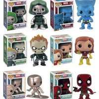 Funko POP! Marvel Series 2 Vinyl Bobble-Head - SET OF 6