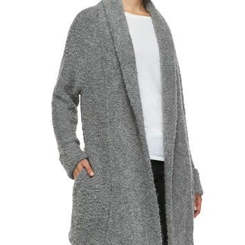Women's Solome Shawl-Collar Boucle Jacket, Heather Gray - Joie - Htrgrey