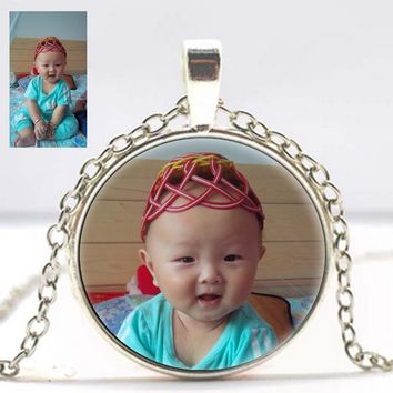 Personalized Photo Pendants Custom Necklace Photo of Your Baby Child Mom Dad Grandparent Loved One Gift Family Member Gift diy