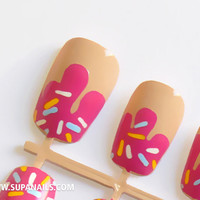 """12 Cute """"Donut"""" Nails with Sprinkles"""