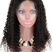 360 Frontal Wig 180% Density Curly Brazilian Virgin Hair [TLW06]-WOWAfrican.com
