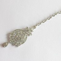 Silver Tikka/Maang Silver Tikka/ Indian India Prom Tika Jewelry/Head-Piece Jewel