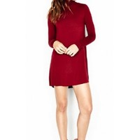 Michael Lauren Leo Dress in Red Rouge