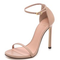 Stuart Weitzman Nudist 110mm Leather Sandals