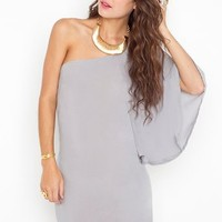 Asymmetric Flare Dress - Dove Gray in Clothes Dresses at Nasty Gal