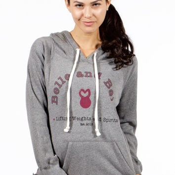 Belle and Bell Lifting Weights and Spirits Women's Hoodie