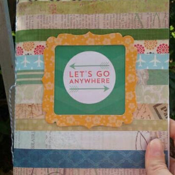 Travel junk journal. Travel smash book. Price includes USA shipping.