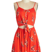 Mink Pink Americana Mid-length Sleeveless A-line Relish the Romance Dress