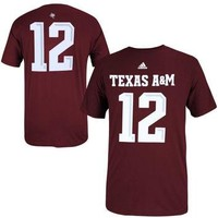 Texas A&M Aggies adidas No. 12 Football Replica T-Shirt - Maroon