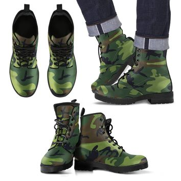 Men's Leather Boots - Camo Boots For Men