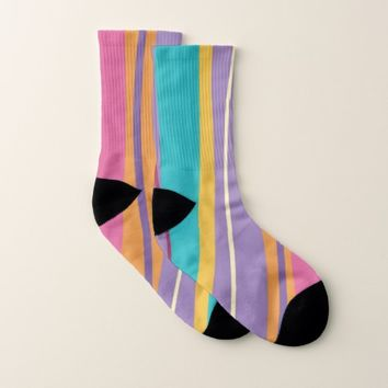 Purple Lines Socks