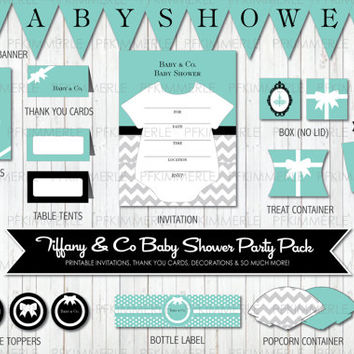 Baby & Co. -  Tiffany Blue Inspired Baby Shower Party Pack Bundle