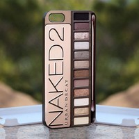 Naked MakeUp set - Print on Hard Cover iPhone 5 Black Case