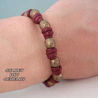 Brass bead zen bracelet by julietdiyjewelry on Etsy