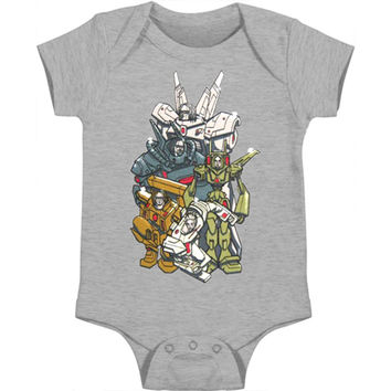 Korn Boys' Bot Bodysuit Grey Rockabilia
