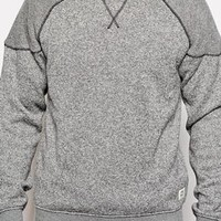 Jack & Jones Knit Look Sweat With Contrast Shoulders