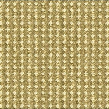 Kravet Couture Fabric 33557.4 Rare Coin White Gold